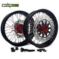 BIKINGBOY 17 Front Rear Wheels Rims Hubs Discs Bracket Sprocket Set For Honda CRF 250 450 R CRF450R CRF450R 2015 2016 2017