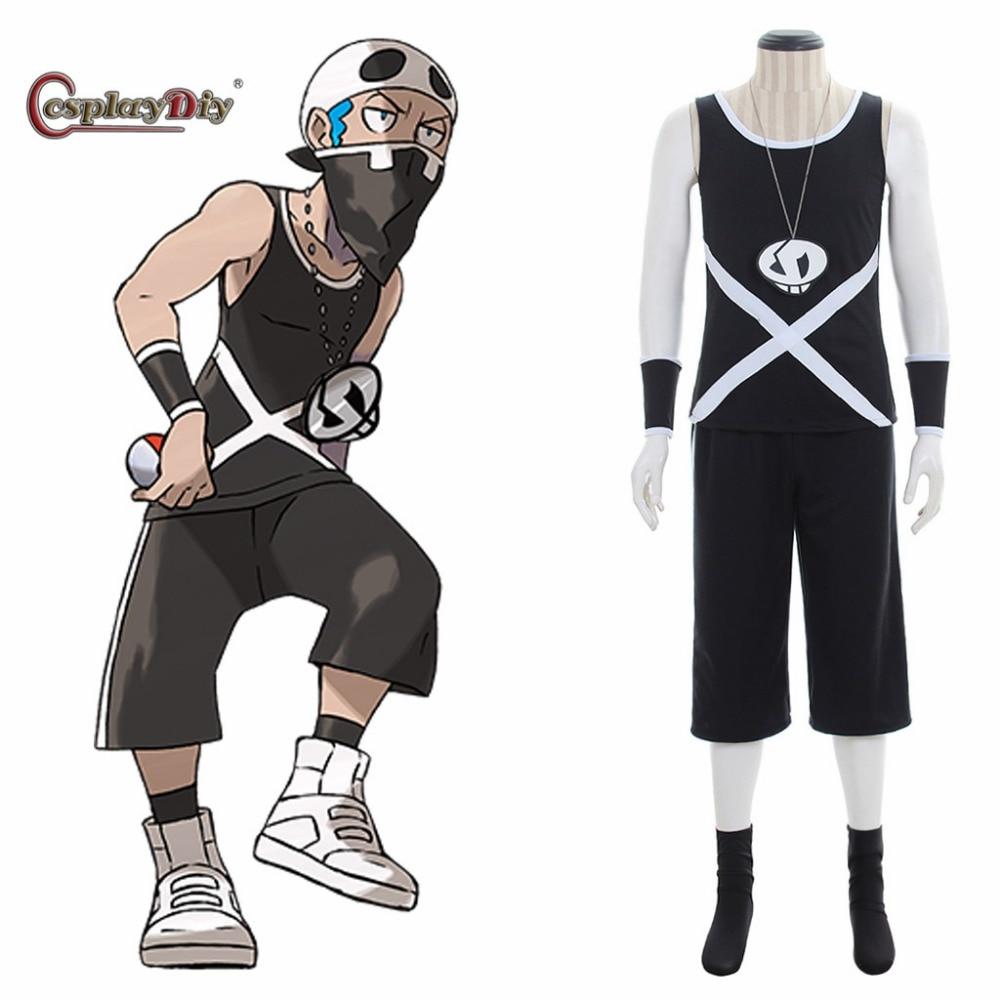 Cosplaydiy Anime Pokemon Sun and Moon Cosplay Team Skull ...