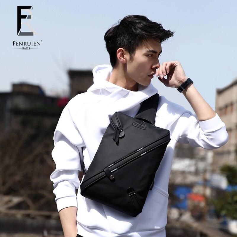 FENRUIEN Anti-Stöld Crossbody Bag Casual Men Bröstväska Vattentät - Handväskor - Foto 1