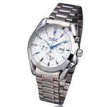 Победитель классический деловой мужской автоматические механические наручные часы — стальной ленты суб-набор вт / Box