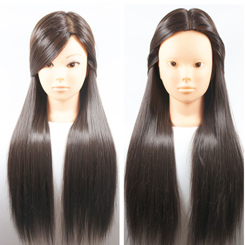 Новое поступление коричневые волосы 26 дюймов укладка волос манекен головы прическа для парикмахера манекен волос манекены для продажи обучение головы парик шнурка