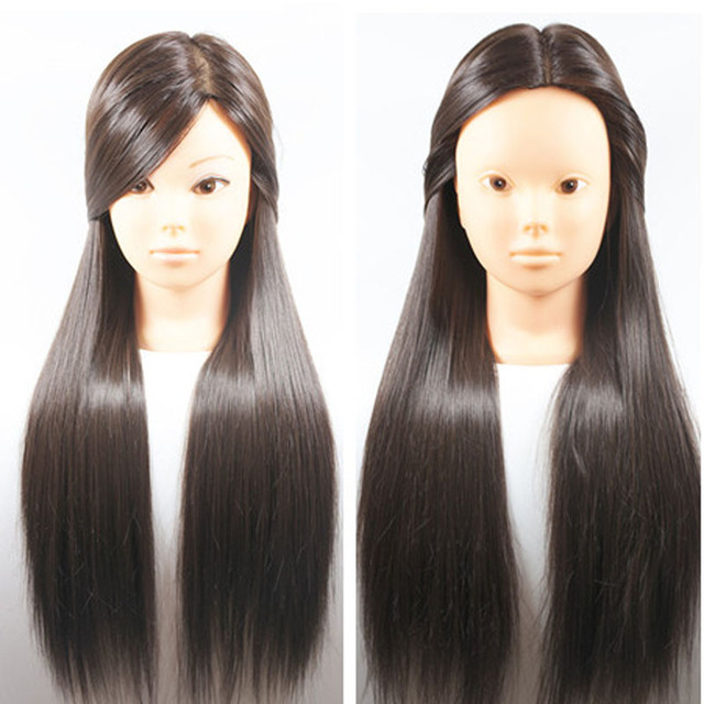 New Arrival Brown Hair 26inch Hair Styling Mannequin Head Hairstyle For Hairdresser Dummy Hair Mannequins For Sale Training Head