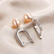 Natural Pearl Women Dangle Drop Earrings