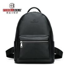 Genuine Leather Mens Backpack Fashion Cow Backpacks College School Men Bag Black Large-Capacity Travel
