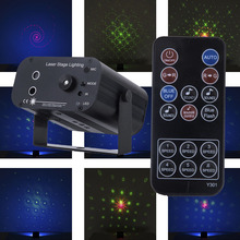 цена Remote RGB 3 heads Laser Light 48 Patterns laser system Christmas led Party Dsico lights LED Stage Lighting for party KTV онлайн в 2017 году