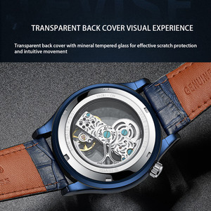 Image 5 - Tevise Automatic Watch Men Mechanical Watches Hollow Skeleton Self Winding Male Sport Wrist Watch Relogio Masculino 2019 New