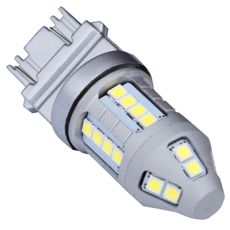 T25 3157, 3156, 3057, 3457, 4157, 3047 1800LM Super brillante 3030 coche LED de señal de vuelta de bombilla de la lámpara de cola Auto luz de día