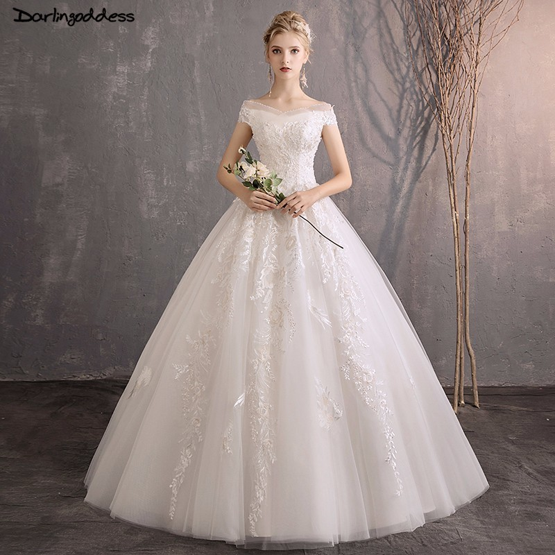 Wedding Dresses Ball Gown Corset: Vestido De Noiva Luxury Ball Gown Wedding Dress Lace Short
