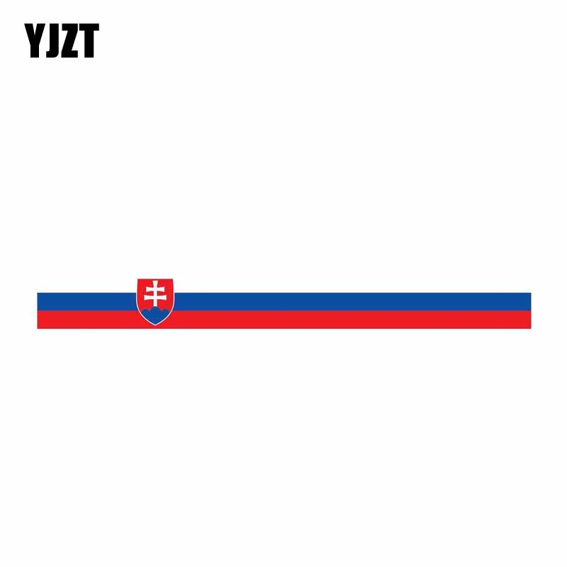 YJZT 13CM*1.3CM Personality Car Styling Slovakia Funny Car Sticker PVC Decal Accessories 6-0571