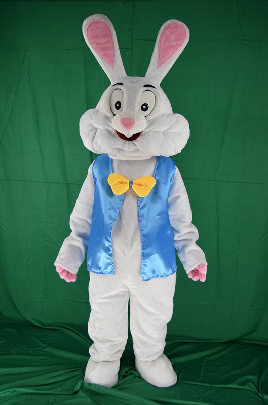 2017 New Easter Bunny Mascot Costume Rabbit Cartoon Fancy Dress Adult Size!