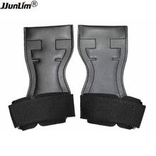 Leather Cross Training Gloves Sports Gymnamistics Hand Grips Wrist Support Wraps for Pull Ups Weight Lifting