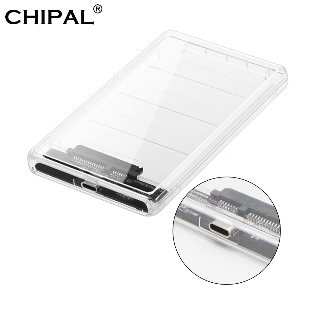 Begeistert Chipal Transparent 2,5 Zoll Hdd Ssd Fall Sata Zu Usb 3.1 Typ C Adapter Freies 5 Gbps Box Festplatte Gehäuse Unterstützung 2 Tb Uasp Angemessener Preis Externer Speicher Hdd Gehäuse