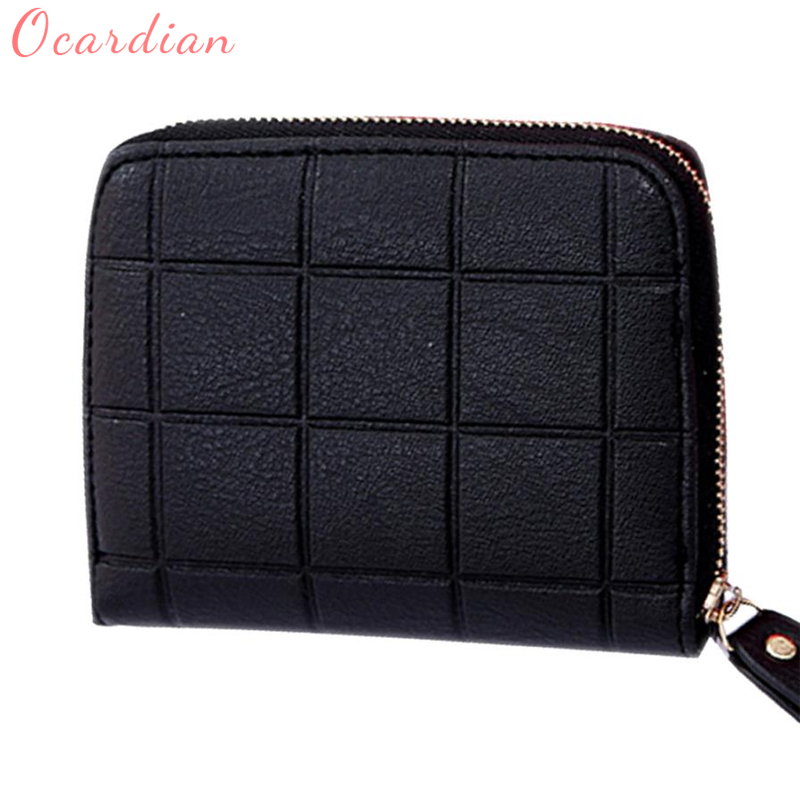 Ocardian Zipper Wallet Chess Card-Holder Small Hot-Sale Fashion Nubuck Women for Gift