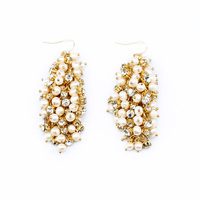 Shijie New Hot Sale Costume Factory Direct Wholesale New Statement Fashion Latest Freshwater Pearl Earrings Personality
