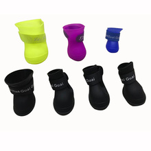 XINAN Pet Shoes silicone rain boots dog non-slip Comfortable shoes wear waterproof pet soft rubber supplies