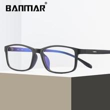 BANMAR Men TR90 Anti Blue Rays Glasses Frame Optical Women Clear Prescription Light Acetate Eyewear Eyeglasses A1827