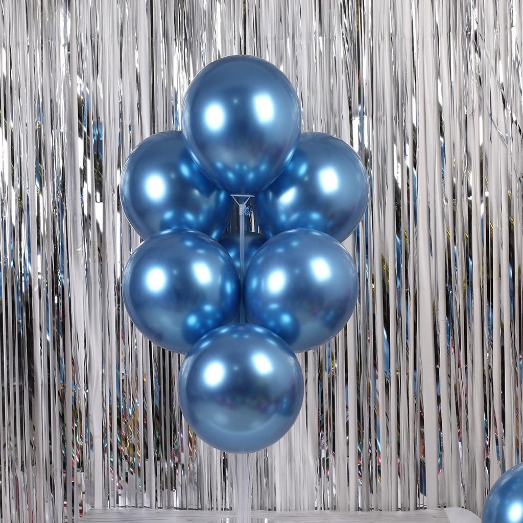 50pcs//lot Metallic Gold Rose Purple Ballon Wedding Latex Metal Chrome Balloons