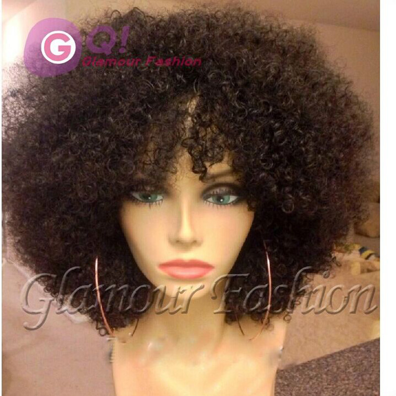 Gq New Haircut Short Kinky Curly Bob Wigs Human Hair Afro