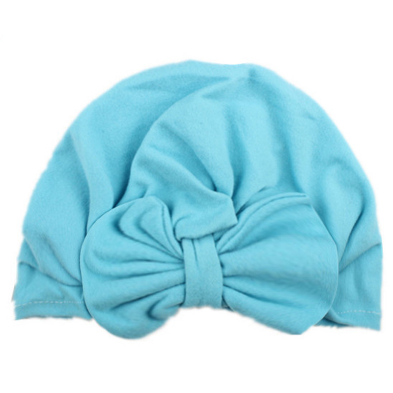 Newborn Baby Bow knot Hat Nursery Beanie Hospital Hat Turban Head Wraps Solid clothes accessories for Kids Boys Girls in Hats Caps from Mother Kids