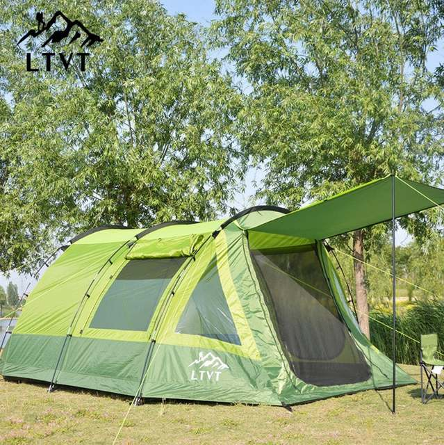 placeholder Large tunnel tents anti-rain 2 rooms c&ing tent 5-8 person outdoor 2 & Online Shop Large tunnel tents anti-rain 2 rooms camping tent 5-8 ...