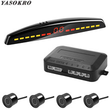 YASOKRO Car Led Parking Sensor Auto Car Detector Parktronic Display Reverse Backup Radar Monitor System With 4 Sensors