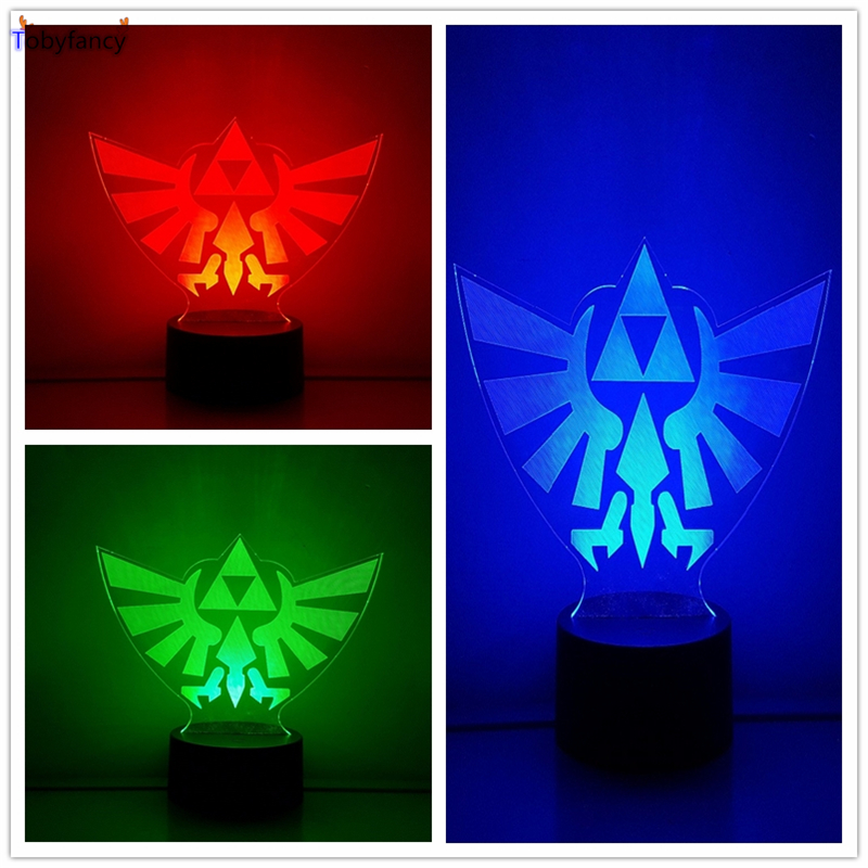The Legend Of Zelda Action Figure 3D RGB Visual Illusion LED Table Lamp  Link Anime Breath Of The Wild Light In Action U0026 Toy Figures From Toys U0026  Hobbies On ...