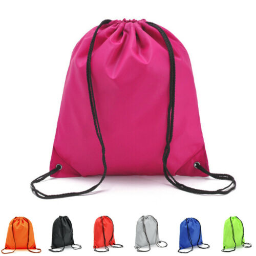 Solid Color String Drawstring Back Pack Cinch Sack Gym Tote Bag School Sport Shoe Bags 2019 NEW 7 Color