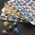 Topstone novo com prata pátina 14mm rivoli cristal fantasia pedra vidro redondo para fazer jóias