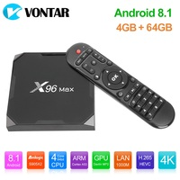 X96Max Android 9.0 Smart TV Box Android 8.1 Amlogic S905X2 4GB 64GB 2.4G 5GHz Dual Wifi BT4.1 1000M H.265 4K Set Top Box X96 Max