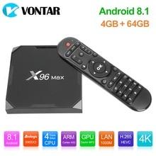 X96Max Smart TV Box Android 8.1 Amlogic S905X2 Quad Core 4GB