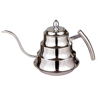 Eworld High Quality Kitchen Coffee Pot Stainless Steel Coffee Drip Kettle Tea Pot 1 2L Fine