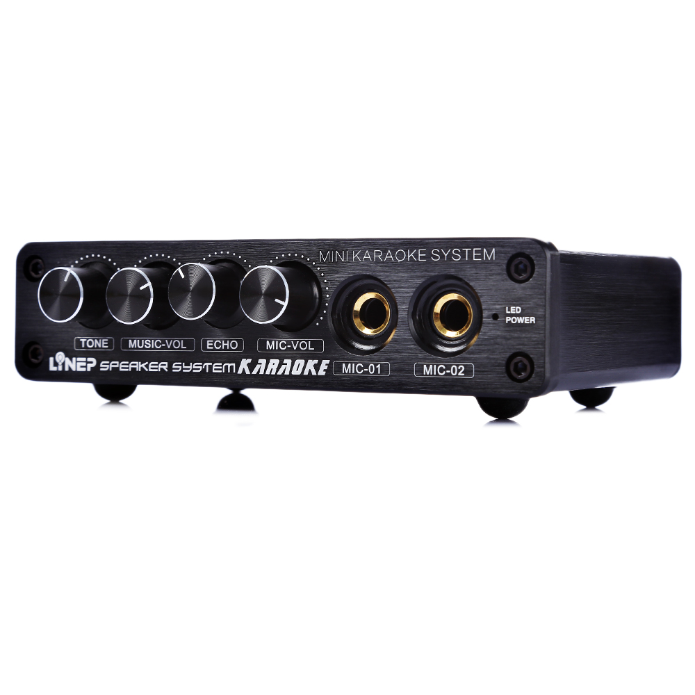 EU Mini A933 Karaoke Machine System Julyfox Mini Karaoke Sound Mixer Amplifier 12V W RCA In