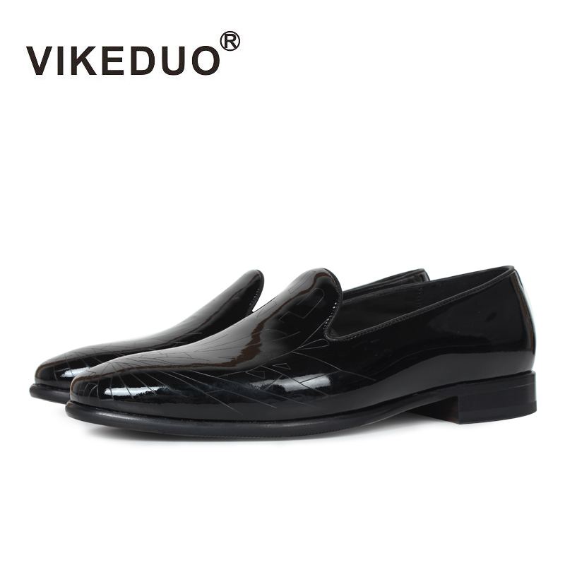 2018 Rushed Vikeduo Handmade Classic Men's Loafer 100% Genuine Leather Casual Shoes Luxury Fashion Dress Party Original Design 2018 vikeduo handmade hot men s loafer shoes 100% genuine leather fashion luxury causal party dress young man original design