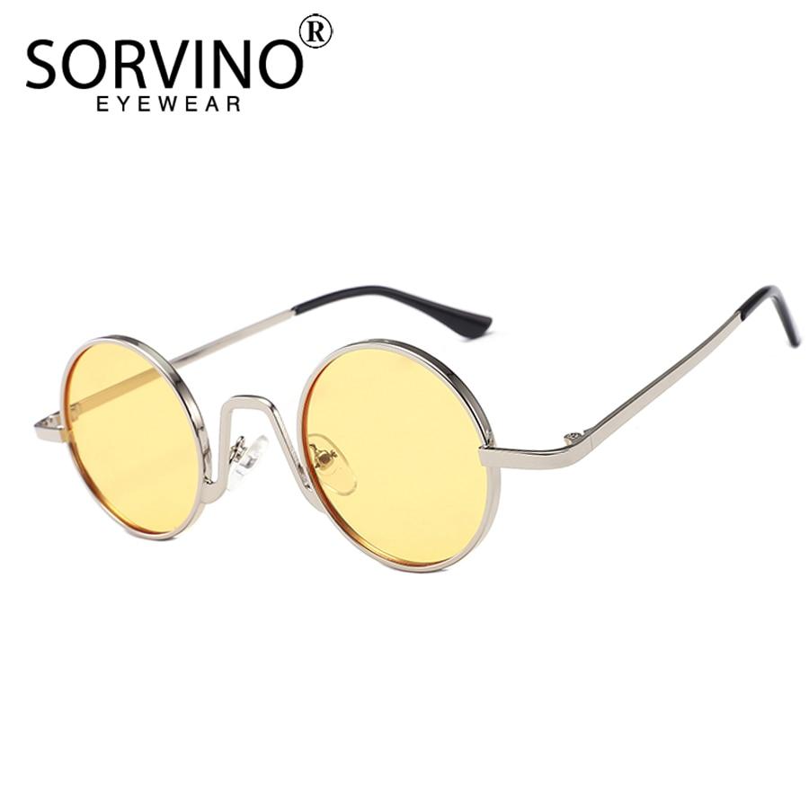 690c8438d5 Aliexpress.com   Buy SORVINO 2018 Retro Skinny Round Steampunk Sunglasses  Men Women Brand Designer Goggles Lady Mens Circle Sun Glasses Shades SP152  from ...