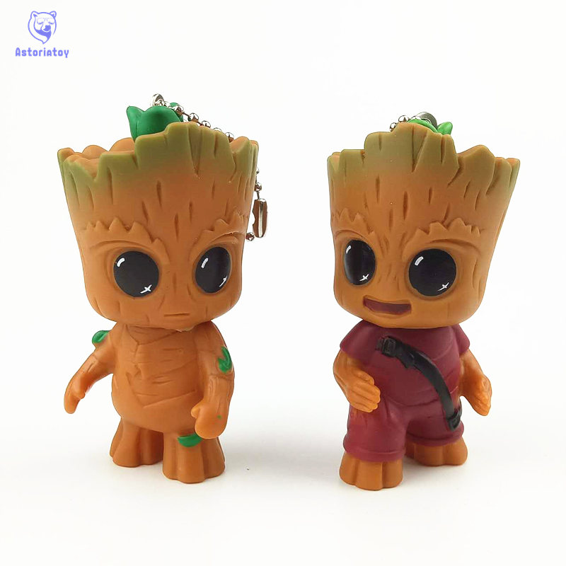 Guardians of the Galaxy Model Action Toy keychain Figures Mini Cute Cartoon Movies Potted Micro Bonsai Ornaments Brinquedos