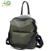 Mlitdis простой Стиль рюкзак женщины Рюкзаки для девочек-подростков Школьные ранцы Модные Винтажные Твердые сумка Mochila Escolar