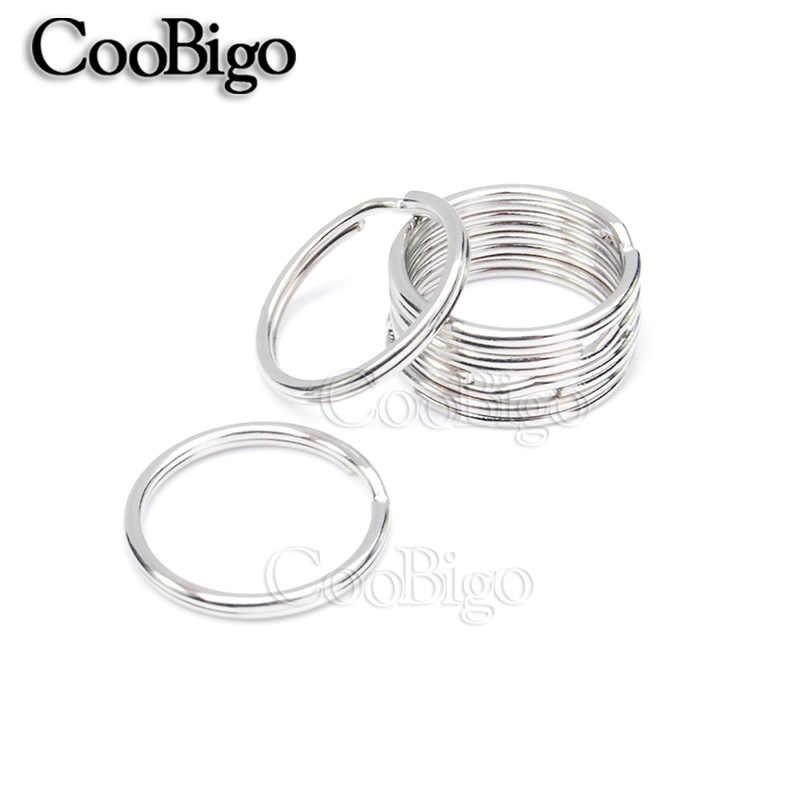 10 шт. 15 Размеров 10 мм ~ 57 мм внешний диаметр нормальный брелки для ключей цепь сплит-кольца Серебристая сумка игрушки ювелирные изделия Запчасти Аксессуары