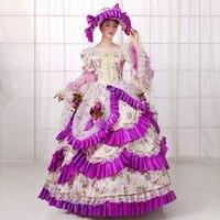 FREE SHIPPING S 2XL 2016 Elegant Lolita Dance Party Dress 18th Century Medieval Marie Antoinette Dresses