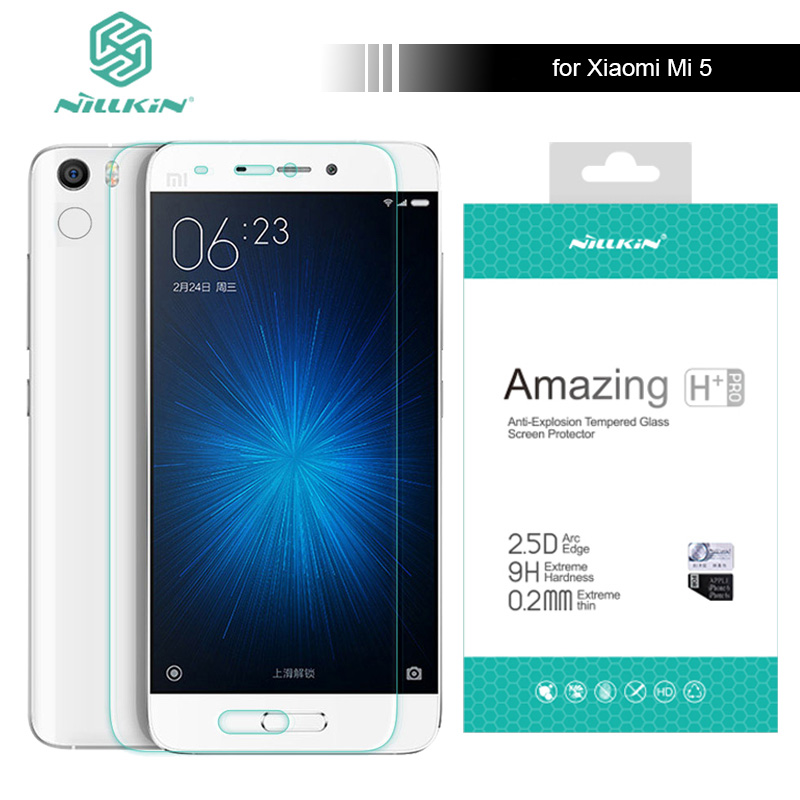 Nillkin for Xiaomi Mi5 9H Amazing H / H+ Pro 5.15 inch Tempered Glass Screen Protector For Xiaomi Mi 5 M5 Pro Prime Nilkin Glass