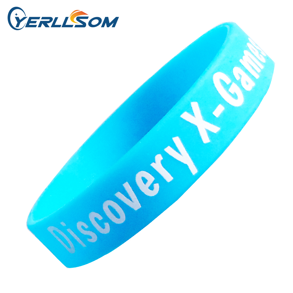 YERLLSOM 500pcs Lot free shipping High Quality Custom personalized Screen Printing Logo Silicone Wristbands Y072902