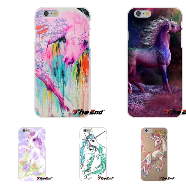 For iPhone X 4 4S 5 5S 5C SE 6 6S 7 8 Plus Galaxy Grand Core Prime Alpha Rainbow Pink Horse Puke Unicorn Soft Silicone Case
