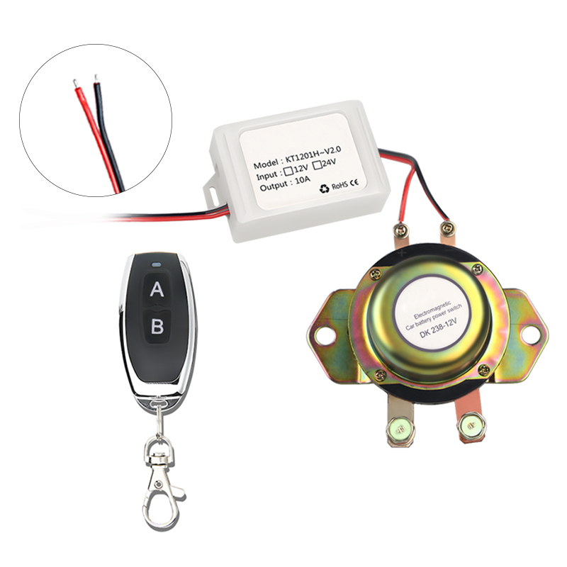 Image 5 - Remote Control Electromagnetic Boat Battery Switch Isolation Disconnect 12v + Gloves Solenoid Battery Power Terminal Vehicle-in Car Switches & Relays from Automobiles & Motorcycles