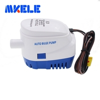 Free shipping DC12V/24V Automatic bilge pump 750GPH auto submersible boat water pump,electric pump for boats accessories marin