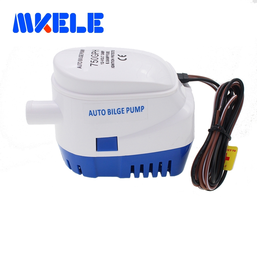 Free shipping DC12V/24V Automatic bilge pump 750GPH auto submersible boat water pump,electric pump for boats accessories marin free shipping clb series submersible water pump for pond