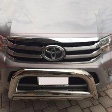 2016-2017 Chrome спереди Гонки Грили Обложка для Toyota Hilux Revo Аксессуары хромированная решетка Запчасти для Toyota Hilux гриль ycsunz