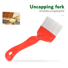 Brand Beekeeping Tool 1PCS Red 21 Straight Needles Uncapping Forks Suitable for Beekeeping Tool Honey Honeycomb Scraper
