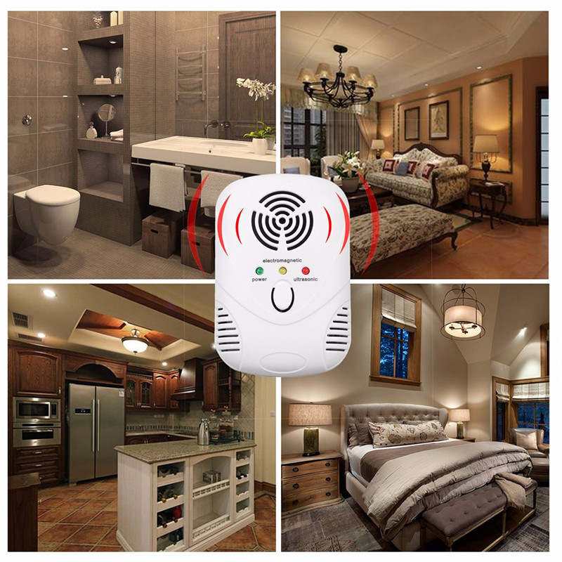 Drop Shipping US EU Plug Electronic Ultrasonic Rat Mouse Repellent Indoor Anti Mosquito Insect Pest Killer Repeller Pest Control