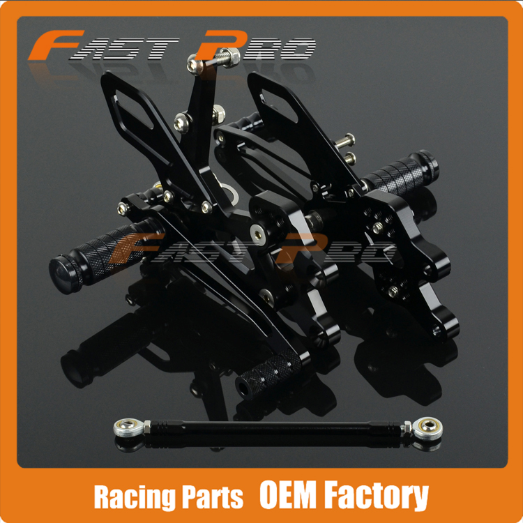 CNC Motorcycle Adjustable Billet Foot Pegs Pedals Rest For KAWASAKI ZX10R ZX-10R ZX 10R 2004 2005 high quality abs plastic for kawasaki ninja zx10r zx 10r 2004 2005 04 05 moto custom made motorcycle fairing kit bodywork c459