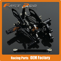 CNC Motorcycle Adjustable Billet Foot Pegs Pedals Rest For KAWASAKI ZX10R ZX 10R ZX 10R 2004 2005