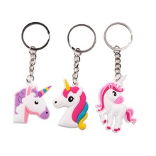 Frigg  Cute Unicorn Wristband Keychain Kids Birthday Party Favors Rubber Bracelet Supplies For Children
